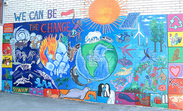 The many murals by our youth creative action for Creative mural art