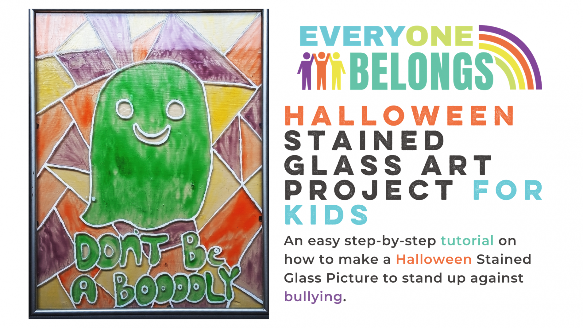 Halloween Stained Glass DIY