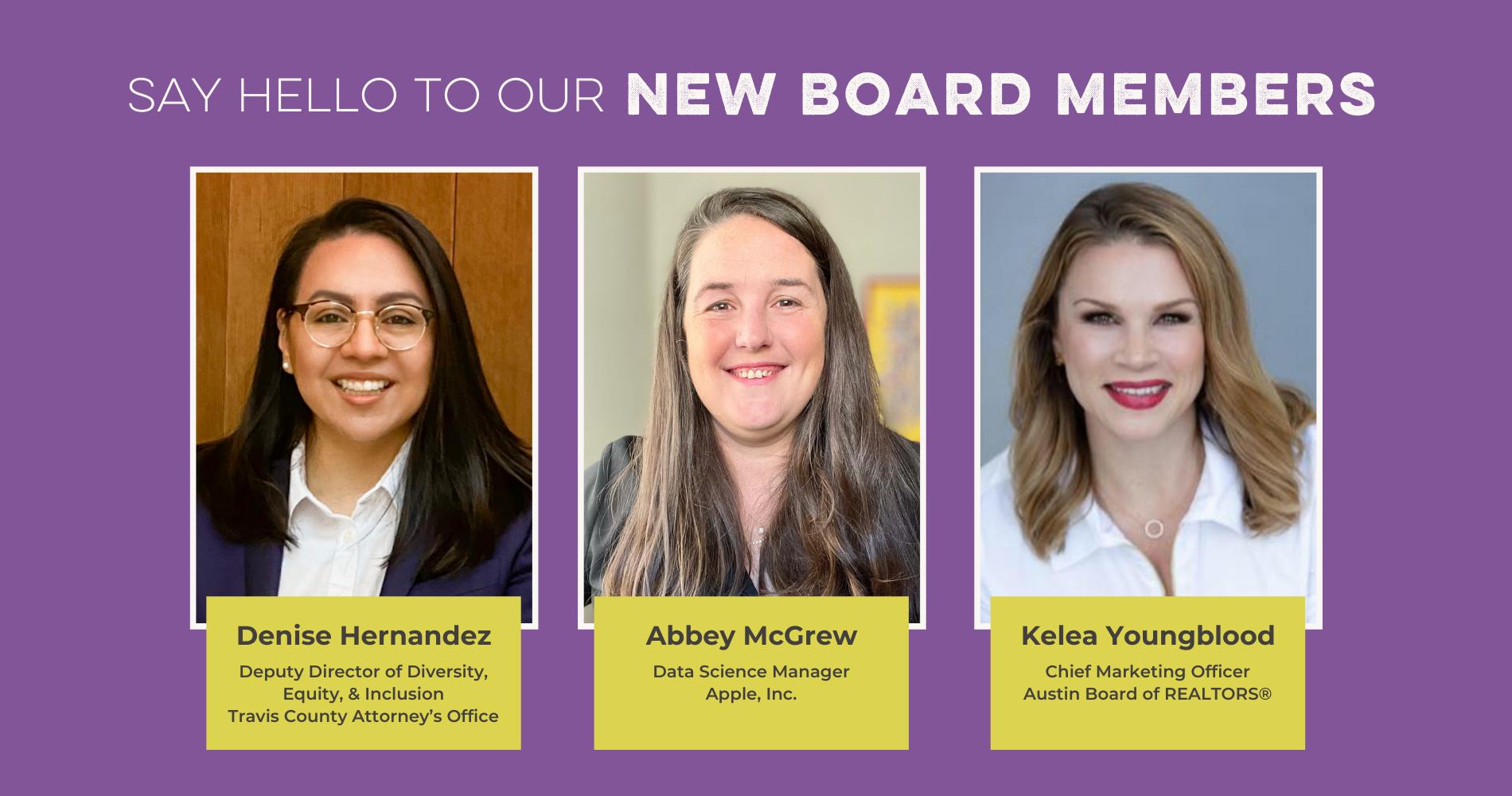 New Board Members Image