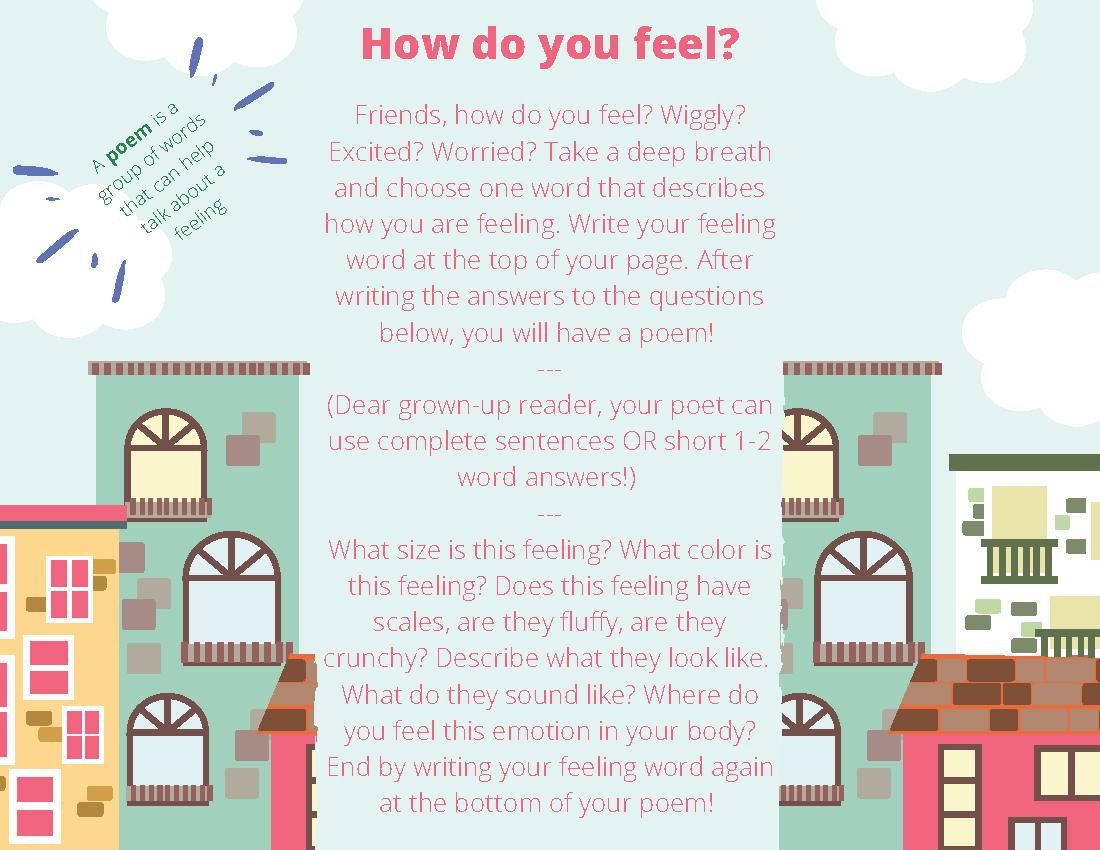 SEL Poetry Worksheet for Kids